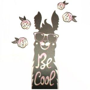 "*3/$30* ""Be Cool"" Llama Wall Art Decals/Stickers"